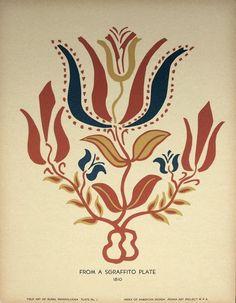 Silkscreen folk art poster