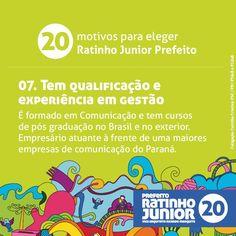 20 motivos para eleger Ratinho Junior Prefeito. Compartilhe hoje o motivo número 7 #equipenovasideias