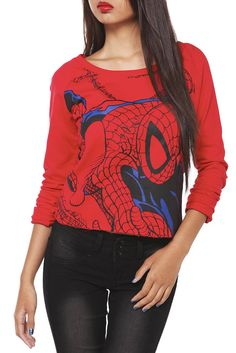 Marvel Comics Spider-Man Long-Sleeved Pullover #hottopic $32.50-36.50 (sizes xs-3x)