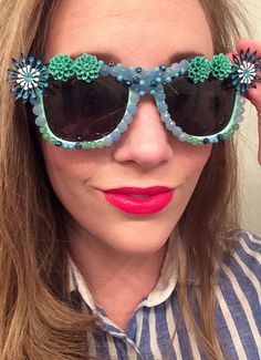 7fcbb59804b8b Flower Power Embellished Sunglasses by heythrprincess on Etsy,  35.00  Disney Vacations, Vacation Ideas,