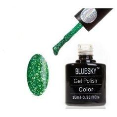 Bluesky Shellac DIAMOND GLITTER FIR GREEN BLZ 23 - UV Gel Soak off Nail Polish 10ml