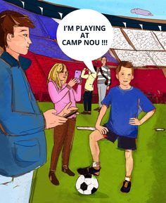 A childrens book about soccer and goals Sean Goes To Barcelona US edition