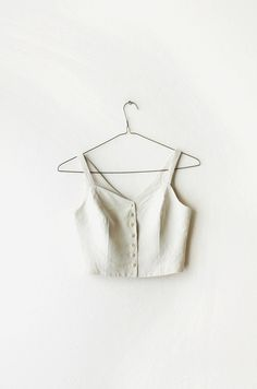 1990's Banana Republic Neutral Off White Cropped by OiseauVintage, $29.00