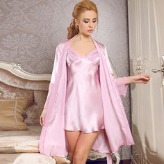 Counters authentic Silk Pajamas Women strap silk nightdress ladies summer  robes home wear Two Piece Set 522e6d70c6