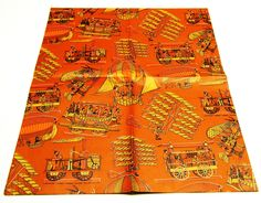 Vintage Orange Historic Transportation Gift Wrap Paper. $7.50, via Etsy.