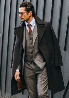 David Gandy in a custom LC:M suit and coat Sharp Dressed Man, Well Dressed, David Gandy Suit, David James Gandy, David Gandy Style, Gentleman Mode, Gentleman Style, Mode Masculine, Suit Fashion