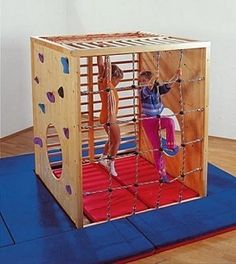 36 Ideas for children playground indoor jungle gym Kids Gym Equipment, Sensory Equipment, Indoor Play Equipment, Indoor Play Areas, Wooden Steps, Outdoor Play, Outdoor Toys, Playhouse Outdoor, Outdoor Ideas