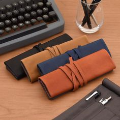 Made of supple leather the Metaphys Famm Pen Roll has slots for your favorite tools and a zip pouch for small accessories. . See all the colors: http://to.jetpens.com/2APcp0E . Clickable link in Instagram profile! . #metaphys #pencase #leathergoods #leatherpencase