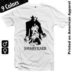 Nosferatu Men/Women American Apparel T-shirt S-XXL Movie, Classic, Classical, Cinema, Dracula, Vampire, Vampyr, Cult, Cool Gift!