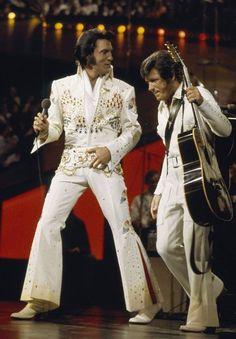 Elvis and Charlie Hodge, Aloha from Hawaii Via Satellite 1973