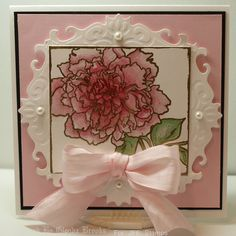The colors for our challenge this week are Pink, Green and Cream or White. Come on and Play along with us! I love these colors and so I ma...
