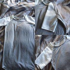 A super wrinkly #lindensweatshirt view b hack from @grainlinestudio by mrsgalichiabelcher