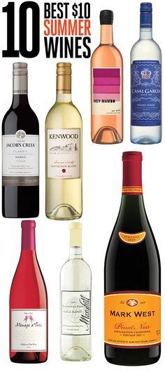 10 best $10 or less bottles of wine