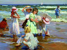 Yuri Krotov - The ship. Children having fun in the water