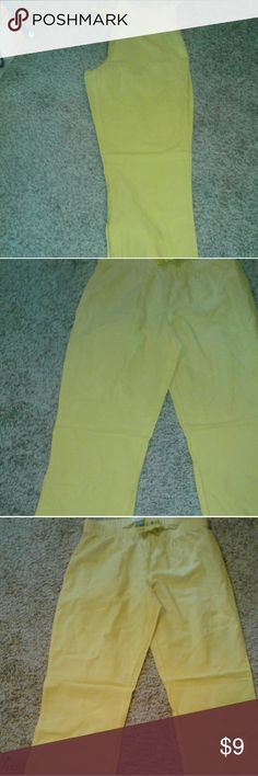 NWT old navy yellow comfy pants I love this color, cute design on bottom near the bottom Old Navy Intimates & Sleepwear