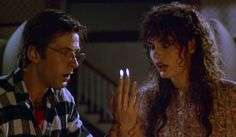 Adam and Barbara from Beetlejuice are about the sweetest ghosts you'll ever meet. It's fun watching them learn how to haunt. I've loved this movie since I was a teenager. October Movies, Osmosis Jones, Shaggy Rogers, Sonya Blade, Johnny Cage, Heroes Wiki, Daphne Blake, Velma Dinkley, Dustin Hoffman