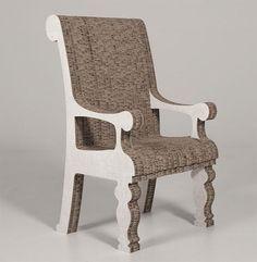 Винтажный стул из сотового картона в новой коллекции Corvasce(Италия).