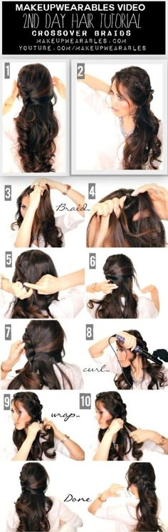 Second Day Hair Tutorial #longhair #brunette #howto #makeupwearables