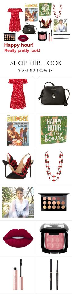 """""""For Scarlett (friend) - Scarlett's ideal wardrobe by me: Happy hour!"""" by sarah-m-smith ❤ liked on Polyvore featuring Miss Selfridge, Kenneth Cole Reaction, Sur La Table, Charlotte Olympia, MAC Cosmetics, Lime Crime, NYX, Too Faced Cosmetics and Yves Saint Laurent"""