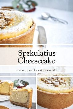 Here you will find a Christmas speculoos cheesecake recipe. Perfect for . , Here you will find a Christmas speculoos cheesecake recipe. Perfect for the advent season with shortcrust pastry, creamy and with crispy speculoos Cakes Originales, Cheesecake Recipes, Dessert Recipes, Cheesecake Speculoos, Cheesecake Cake, Dessert Food, Recipes Dinner, Pie Recipes, Baking Recipes
