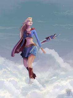 Supergirl fan-art www.edouardrelou.eu #supergirl