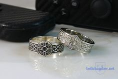 Set of Rings of Mara. White gold and Silver. Remember the Elder Scrolls? Elder Scrolls, Rings For Men, Nerd, Silver Rings, White Gold, Wedding Rings, Wedding Ideas, Engagement Rings, Jewelry