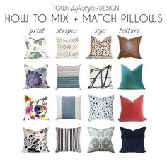 How to mix and match pillows || Town Lifestyle + Design