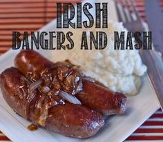 These healthy Irish recipes for St. Patrick's Day are real food takes on classic Corned Beef and Cabbage, Shepard's Pie and Bangers and Mash Bangers And Mash Recipe Irish, Irish Bangers, Irish Recipes, Pork Recipes, Real Food Recipes, English Recipes, Healthy Recipes, Healthy Eats, Kitchens