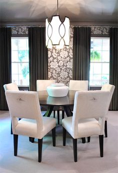 Classic With A Twist: Dining Room | I LOVE the idea of a round dining table!