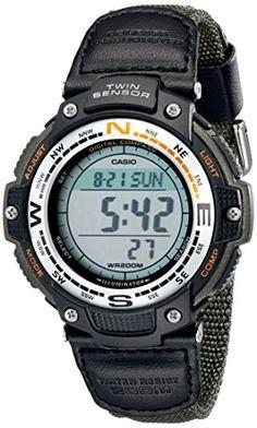 201e49658599 Amazon.com  Casio Men s SGW100B-3V Digital Compass Twin-Sensor Sport Watch   Casio  Watches
