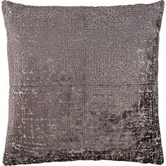 Slate Grey Velvet Cushion 50x50cm