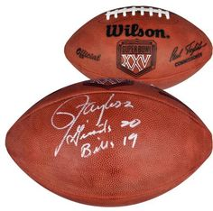 Lawrence Taylor Signed Super Bowl XXV Football w/ Giants 20 Bills 19 - SM - JSA Certified - Autographed Footballs by Sports Memorabilia. $349.99. Lawrence Taylor Signed Super Bowl XXV Football w/ Giants 20 Bills 19 - JSA/SM. Finding good pieces from Lawrence Taylor isn't easy since he rarely participates in memorabilia signing sessions. This item is also a great investment and is sure to increase in value. Every piece sold by our site is quality guaranteed, and will add val...