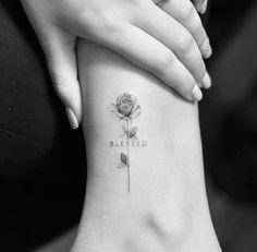 Blessed | #word #rose #text #tattoo #ink #inked