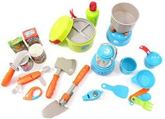 A and E Imports Little Explorers Camping Gear Toy Tools Play Set 20 pcs Kids Camping Gear, Camping Set, Camping Tools, Camping Games, Camping Stove, Camper Awnings, Best Places To Camp, Bath Toys, Pretend Play