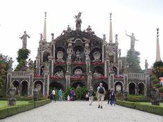 V záhrade paláca Borromeo na ostrove Isola Bella - Lago Maggiore - Taliansko