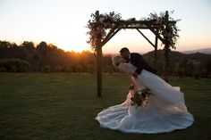 Sunset ceremony arch at Sacred Mountain Retreat, Julian