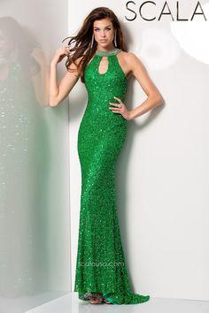 SCALA style 48444 Emerald. #Prom2K15 #Spring2015 #Prom2015 #Dress #Gown #PromDress #Eveningwear www.scalausa.com
