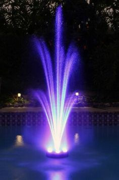 Muliti Color Changing LED Lights Pool Or Pond Water Floating Fountain pump NICE!