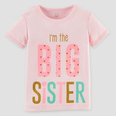 Just One You Made by Carter's Toddler Girls' Big Sister T-Shirt - Pink