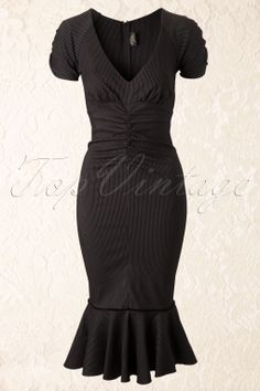 Steady Clothing - 50s Maria Pencil Dress in Black