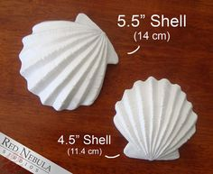 These decorative sea shells are made from lightweight cast resin and would make the perfect props for your mermaid or other oceangoing creature costume! They may be attached to a mermaid bikini top, strung as part of a fancy sea-themed belt, attached as decoration on a mighty trident prop, or anything else you can imagine.  You can choose between two sizes for these shells: 4.5 diameter (about 1.25 depth) and 5.5 diameter (about 2 depth). The shape is slightly different for each size, as…