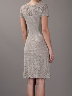 Philosophy Di Alberta Ferretti Crochet And Knit Dress - Spinnaker 141…