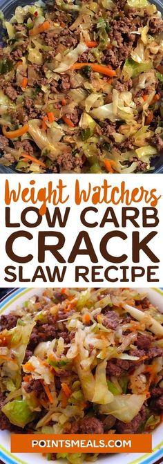 Low Carb Crack Slaw - Düşük karbonhidrat yemekleri - Las recetas más prácticas y fáciles Weight Watcher Dinners, Plats Weight Watchers, Low Carb Recipes, Diet Recipes, Healthy Recipes, Low Carb Hamburger Recipes, Low Carb Menus, Snacks Recipes, Appetizer Recipes