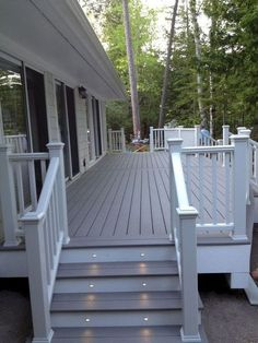Porch and Patio Deck Paint . Porch and Patio Deck Paint . Cool Deck, Diy Deck, Patio Deck Designs, Patio Design, Railing Design, Back Deck Designs, Covered Deck Designs, Porch Designs, Terrace Design