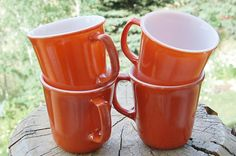 Hey, I found this really awesome Etsy listing at https://www.etsy.com/listing/158885099/vintage-corelle-burnt-orange-mugs-circa