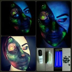 Frugal fun outer space blacklight facepaint