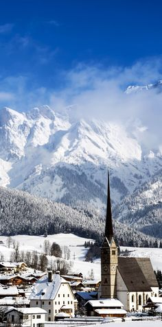 Scenic View of Maria Alm in Winter    |    30+ Truly Charming Places To See in Austria