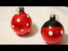 ▶ DIY Mickey and Minnie Ornaments *EASY* -Whitney Crafts - YouTube