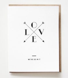 """""""Love. We're so in it."""" <3 {sassy + stylish cards from Toronto designer, Ashleigh Schouwerwou, of papersocietyco.com}"""