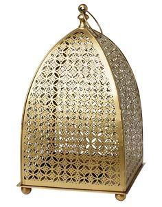 PYRAMID PILLAR t-light brass | Lanterns | Candles and Lanterns | Home | INDISKA Shop Online